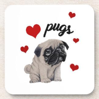 Porta Copos Pugs do amor