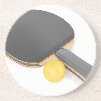 Porta-copos Raquete e bola de ténis de mesa