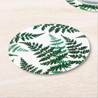 Porta copos redonda da felicidade botânica porta-copo redondo