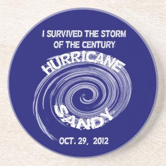 Porta-copos De Arenito Porta copos redonda de Sandy do furacão