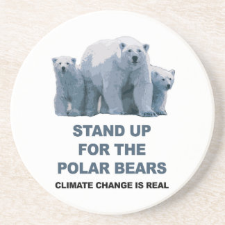 Porta-copos Represente acima os ursos polares