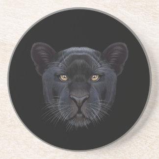 Porta-copos Retrato ilustrado da pantera preta