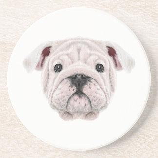 Porta-copos Retrato ilustrado do filhote de cachorro inglês do