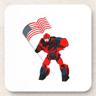 Porta-copos Robô com os meninos da bandeira americana para 4o
