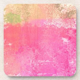 Porta-copos Rosa abstrato da aguarela do Grunge