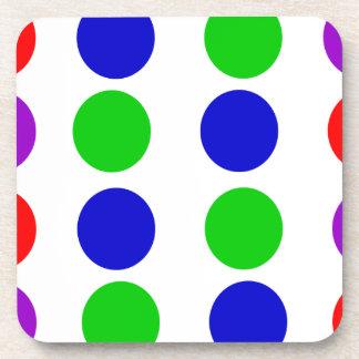 Porta-copos Roxo vermelho do verde azul do design do círculo