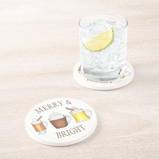 Porta-copos Rum amanteigado do cacau alegre & brilhante da