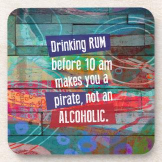 Porta-copos Rum do bebendo antes que 10 am lhe fizerem um