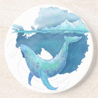 Porta-copos Santuário da baleia do oceano do sul