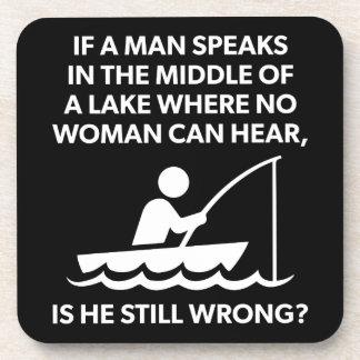 Porta-copos Se um homem fala em um lago - pesca, novidade