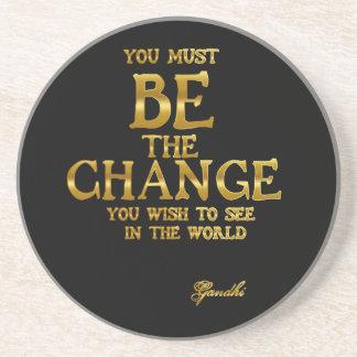 Porta-copos Seja a mudança - citações inspiradas da ação de