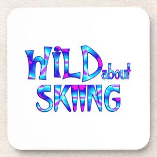 Porta-copos Selvagem sobre o esqui