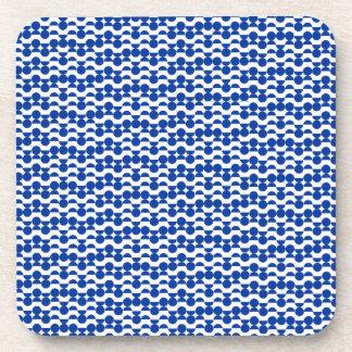 Porta-copos semi mosaico do azul do círculo