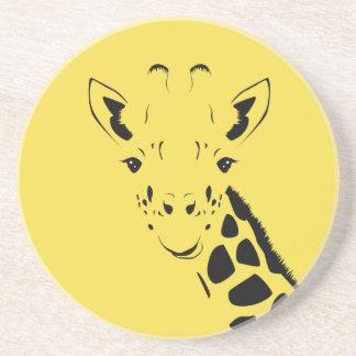 Porta-copos Silhueta da cara do girafa