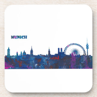 Porta-copos Silhueta da skyline de Munich