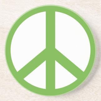 Porta-copos Símbolo verde do sinal de paz