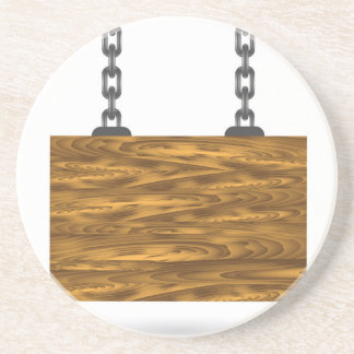 Porta-copos sinal de madeira