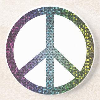 Porta-copos sinal de paz