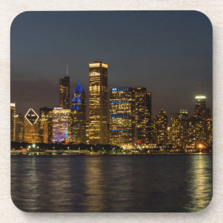 Porta-copos Skyline Chicago Pano da noite