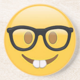Porta-copos Smiley face Geeky de Emoji