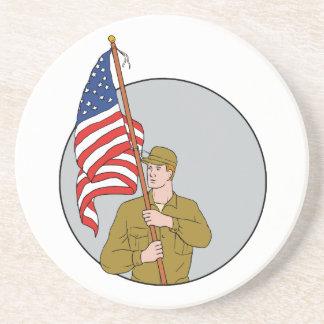 Porta-copos Soldado americano que guardara o desenho do