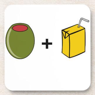 Porta Copos Suco verde-oliva eu te amo
