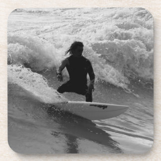 Porta Copos Surfando o Grayscale das ondas
