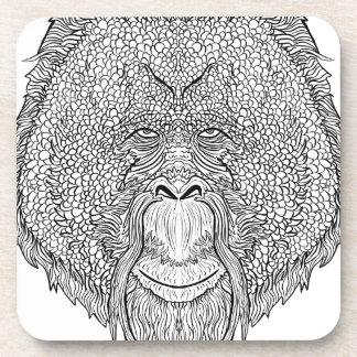 Porta Copos T do macaco do orangotango - coloração do estilo
