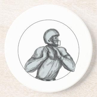 Porta-copos Tatuagem de jogo do futebol do estratego QB