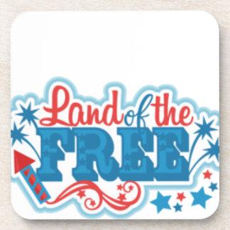 Porta Copos Terra dos presentes americanos Livres, liberdade