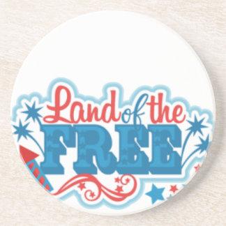 Porta-copos Terra dos presentes americanos Livres, liberdade