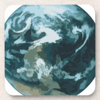 Porta Copos Terra pintada