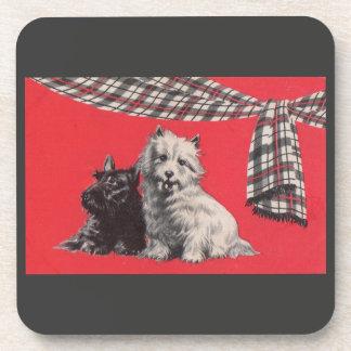 Porta Copos terrier escoceses adoráveis