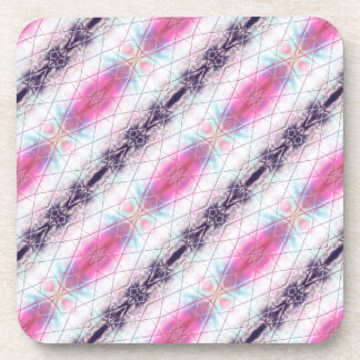 Porta Copos Teste padrão abstrato cor-de-rosa, branco, do roxo