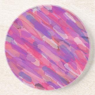 Porta-copos Teste padrão abstrato do roxo e do rosa