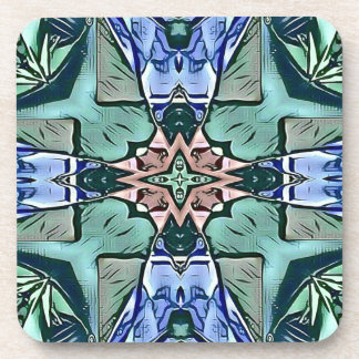 Porta Copos Teste padrão artístico do pêssego moderno do Lilac