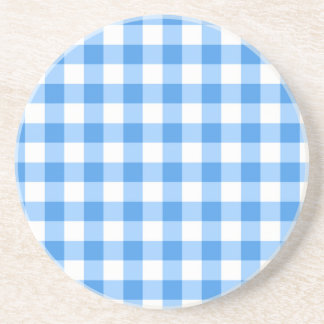 Porta-copos Teste padrão azul e branco da verificação do