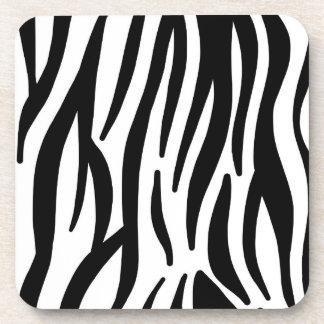 Porta-copos Teste padrão branco e preto selvagem do impressão