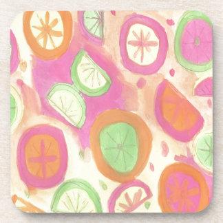 Porta Copos Teste padrão cor-de-rosa da limonada