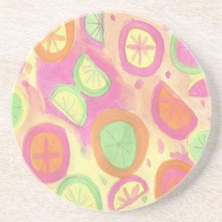 Porta-copos Teste padrão cor-de-rosa da limonada