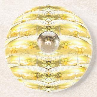 Porta-copos Teste padrão da colmeia da abelha da bola do disco