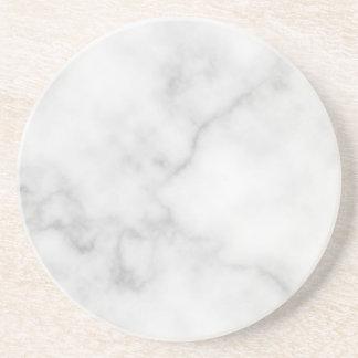 Porta-copos Teste padrão de mármore branco elegante elegante