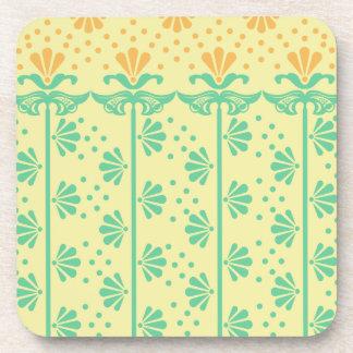 Porta Copos Teste padrão floral das Estilizado-flores do art