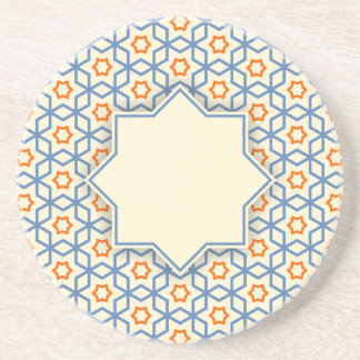 Porta-copos teste padrão geométrico islâmico