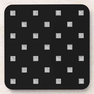 Porta-copos Teste padrão geométrico pequeno preto e branco