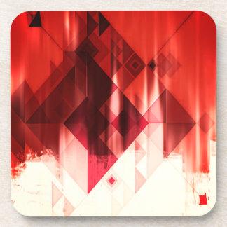 Porta Copos Teste padrão geométrico vermelho marrom e branco