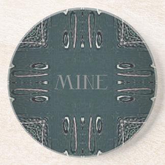 Porta-copos Teste padrão gótico da mina das cinzas pretas
