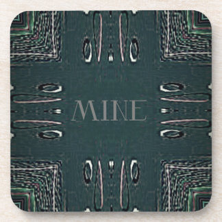 Porta Copos Teste padrão gótico da mina das cinzas pretas