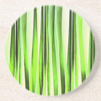 Porta-copos Teste padrão Stripy verde eterno