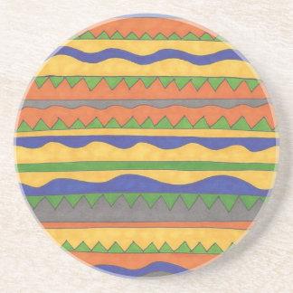 Porta-copos Teste padrão tribal asteca colorido